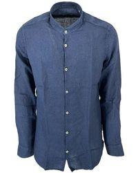 Seventy Modca1150car300042750 Linen Shirt - Blue