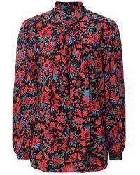 Rag & Bone Rag And Bone Emily Silk Floral Blouse Colour: Red