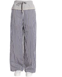 Alexander Wang Striped Wide Leg Trousers - Blue
