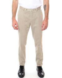 GTA Beige Cotton Pants - Brown