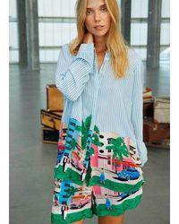COSTER COPENHAGEN Shirt With Postcard Print - Blue