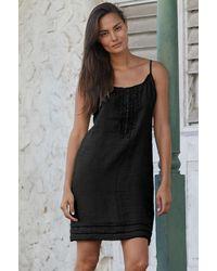 Aspiga Cayo Premium Linen Sundress   - Black