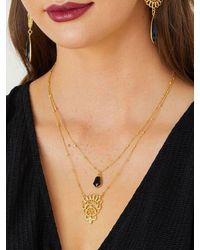 Ashiana London Ashiana Mysore Necklace Black Onyx - Metallic