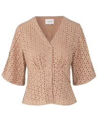 Second Female Milly Broderie Blouse - Pink