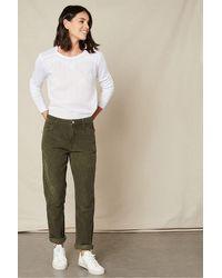 Hartford Pencil Cord Trousers - Green