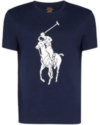 Ralph Lauren Men's 710796092003 Blue Cotton T-shirt