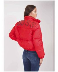 BOSS Cropped Down Puffa Coat - Red