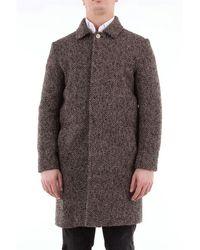 26.7 Twentysixseven Twentysixseven Long Harris Tweed Single-breasted Coat - Brown