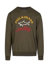 Paul & Shark Paul & Shark Oversized Logo Sweatshirt - Green