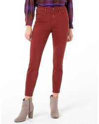 Liverpool Jeans Company Abby High Rise Skinny - Cherrywood - Red