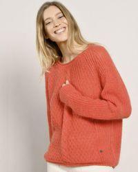 Mat De Misaine Topon Cable Knit Sweater - Red
