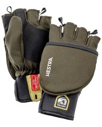 Hestra Windstopper Pullover Mitt Mens Glove Dark Forest - Green
