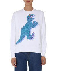 PS by Paul Smith Women's W2r142vep211801 White Cotton Sweatshirt
