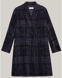 Caractere Long Lurex Coat 0162a000197n - Blue