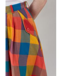 Emily and Fin - Pippa Plaid A Line Skirt - Lyst