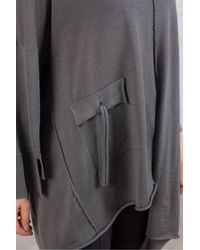 Crea Concept Knit Tunic With Pocket - Grey