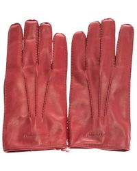 Alexander McQueen Men's 5858484b87q6400 Red Leather Gloves