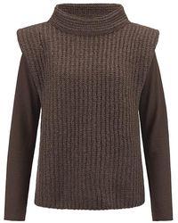 Riani Tank Top Style Sweater In Onyx - Brown