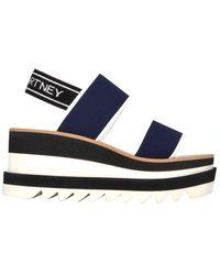 Stella McCartney Women's 800016n0010k462 Blue Fabric Sandals
