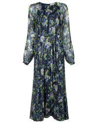 Essentiel Antwerp Verfect Floral Print Dress - Blue