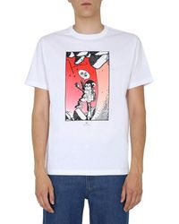 PS by Paul Smith Men's M2r011rep214001 White Cotton T-shirt