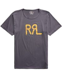 RRL by RALPH LAUREN S/s Logo T-shirt Navy - Blue