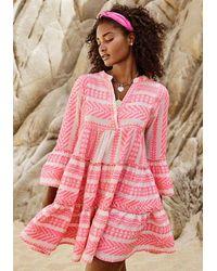 Devotion Ella Dress Neon Pink
