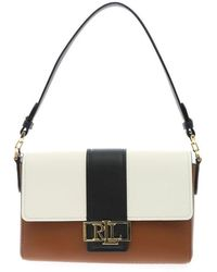 Polo Ralph Lauren Spencer Bag In Black White And Brown
