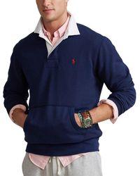 Ralph Lauren Fleece Rugby Top , Title:navy 006 - Blue