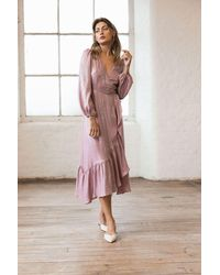 Spirit & Grace Rose Quartz Wrap Dress - Pink