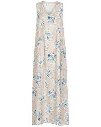 Lindsay Nicholas New York Maxi Dress In Floral Silk - Pink