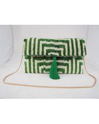 Yunion T Terra Tassel Clutch Bag - Green
