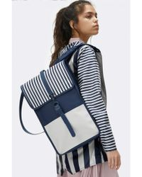 Rains - Distorted Stripes Backpack - Lyst