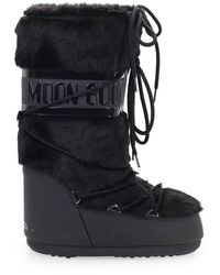 Moon Boot Stivale Da Neve Classic Faux Fur Nero - Black
