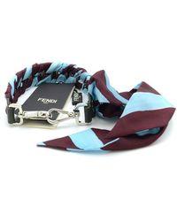 Fendi Strap In Blue/burgundy