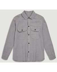 Closed Army Overshirt Fir - Grey