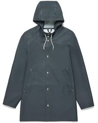 Stutterheim Stockholm Charcoal Raincoat By - Grey