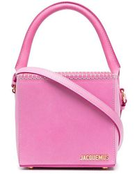 Jacquemus Women's 211ba10211312450 Pink Leather Handbag