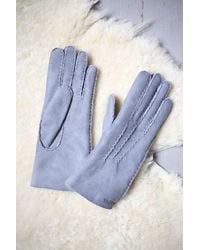 Hestra Grey Ladies Sport Classic Suede Gloves