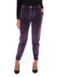 Jacob Cohen Cotton Trousers - Purple