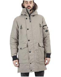 Replay Hooded Multi Pocket Jacket Stone Colour: Stone, - Grey
