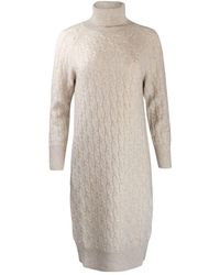 Max Mara Studio Maxmara Studio Leandra Cable Knit Dress - Natural