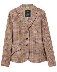 Joules Ladies Highcombe Single Breasted Tweed Jacket - Pink