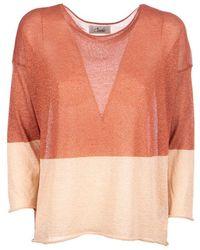 CROCHÈ Sweater Two-tone Tobacco - Brown