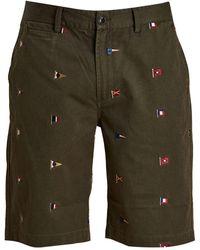 Barbour Flag Shorts Olive - Green