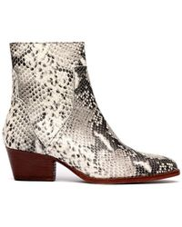 H by Hudson Beryl Reptile Boots Snake - Multicolour
