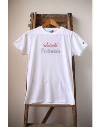 Bella Freud White Solidarite Feminine Crew Neck T-shirt