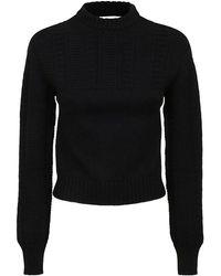 McQ - Mcq By Alexander Mcqueen Women's 659429q1at11000 Black Wool Sweater - Lyst