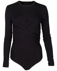 Kendall + Kylie Kenall + Kylie 17142tk Twist Bodysuit - Black