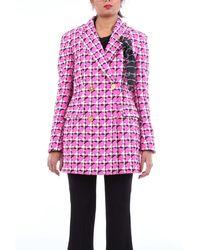 Versace Outerwear Short Women Fuchsia And Black - Pink